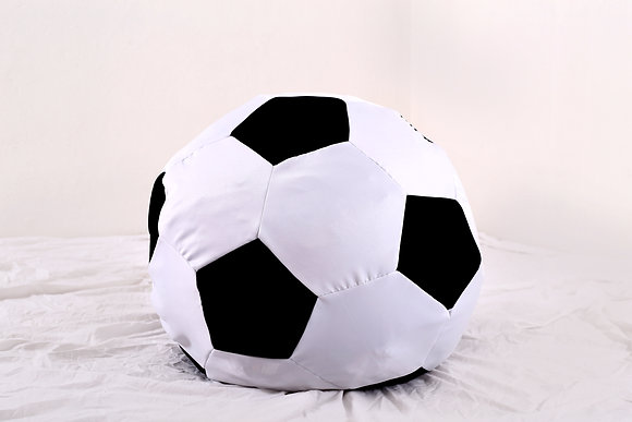 Soccer Ball Bean Bag (Black + White)