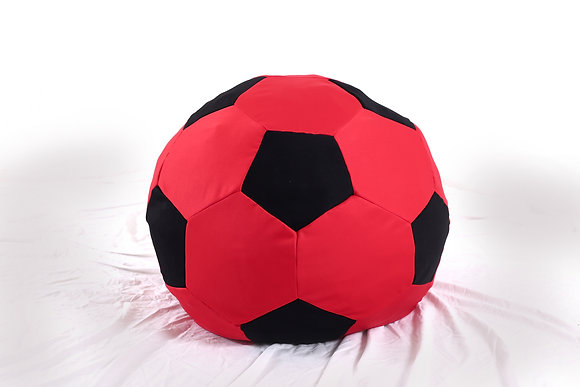 Soccer Ball Bean Bag (Black + Red)