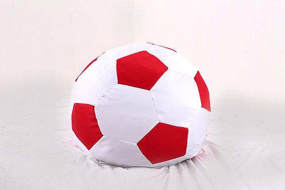 Soccer Ball Bean Bag (Red + White)
