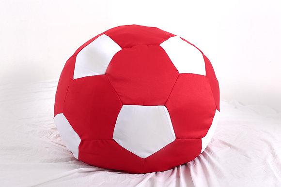 Soccer Ball Bean Bag (White + Red)