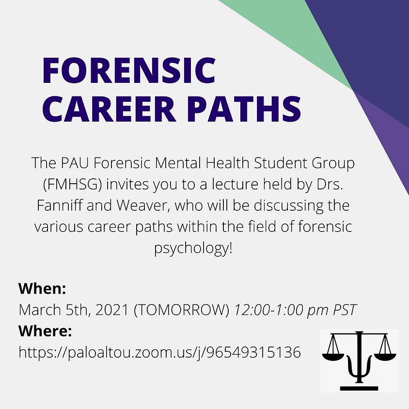 Forensic Career Paths