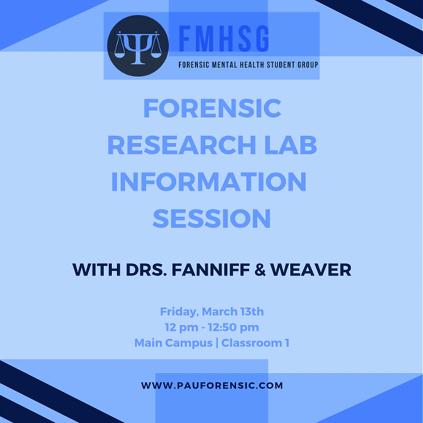 Forensic Research Lab Information Session