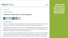 Presse-Information: IT-Macher startet 2018 mit BI-Kampagne