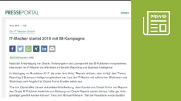 Presse-Information: IT-Macher startet 2018 mit BI-Kampagne