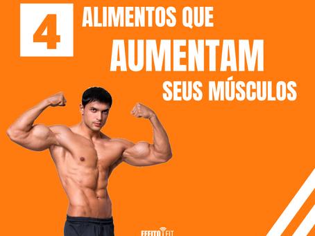 4 Alimentos que aumentam seus músculos