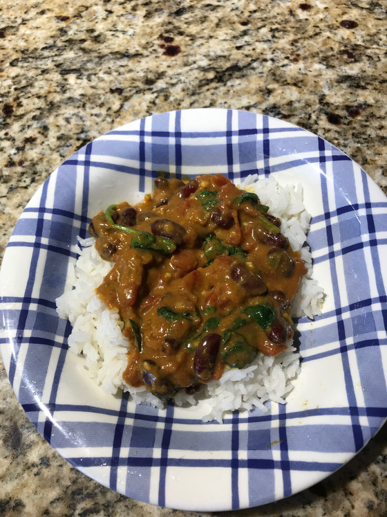 Tomato and Spinach Curry