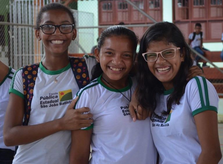 alunas participam da Viver Ciência Itinerante 2019