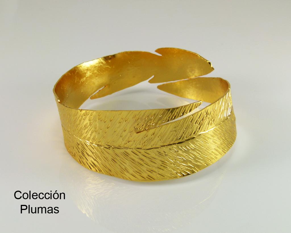 Colección Plumas bronce