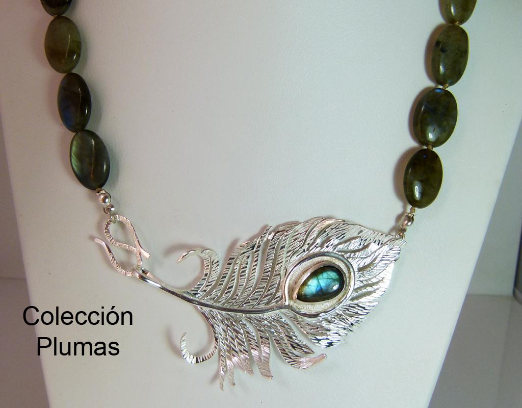 Colección Plumas Plata