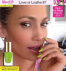 Jennifer Lopez Sporting a Bright Green Mani on Instagram