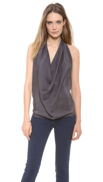Emerson Thorpe Silk Top In Smoke www.singer22.com