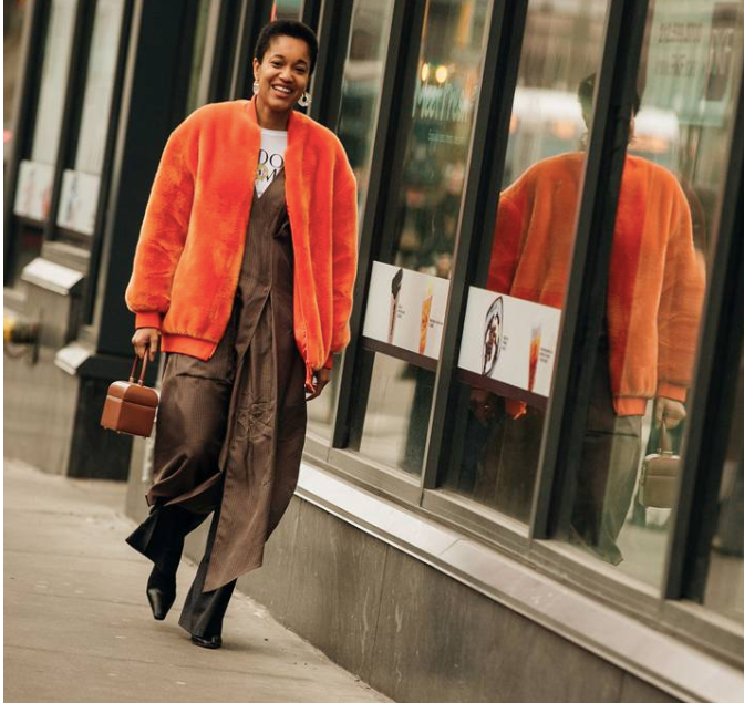 @tamumcpherson on the streets of NYC shot by Jonathan Daniel Pryce for British Vogue.