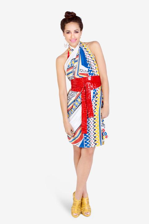 Oversized Sarong tied as a Dress