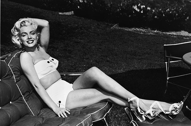 Marilyn Monroe in a Bandeau top and High Waist Bottom
