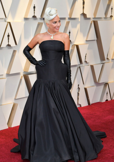Lady Gaga in Alexander McQueen and Tiffany & Co. jewelry. Photo: Jeff Kravitz/FilmMagic Expand Photo