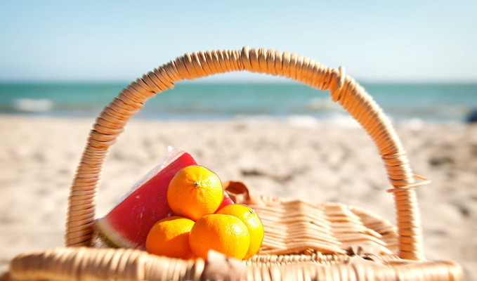 Healthy Beach or Pool Snacks
