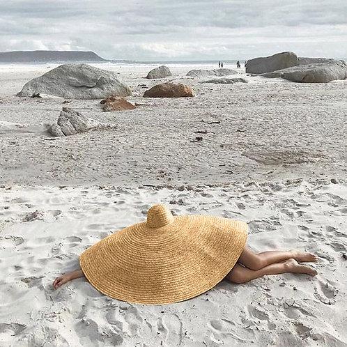 oversized sun hat, hat, sun, accessory