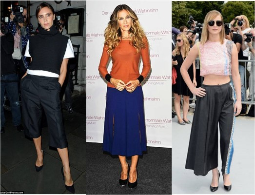 Celebrities and Their Culottes