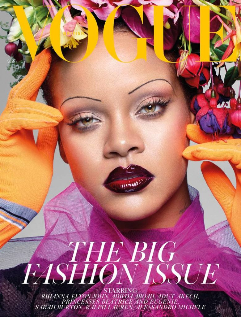 Rhianna on the Cover of the September British Vogue issue