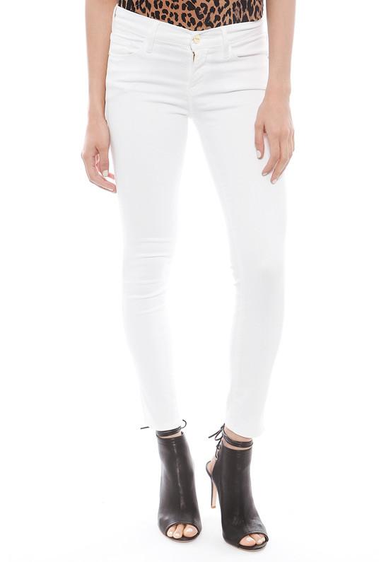 Frame Denim Le Crop in Blanc