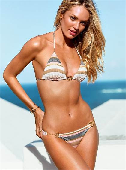 Victoria's Secret Tirangle Puch up Top and Bikini Bottom www.victoriassecret.com
