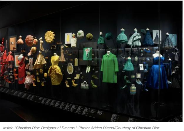 Christian DIor Exhibit at The Victoria & Albert Museum