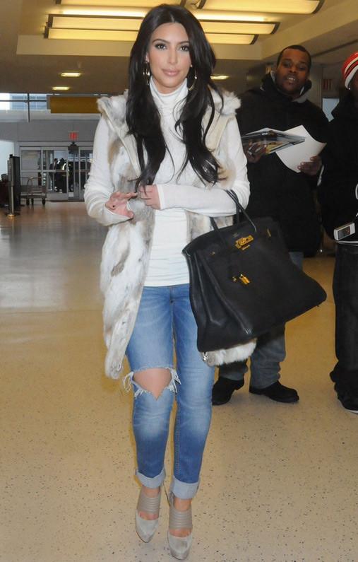 Kim Khardashian-West's Casual Luxe Look
