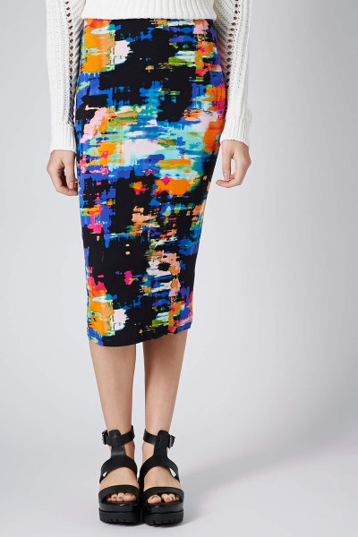 Tropical Print Tube Skirt www.topshop.com