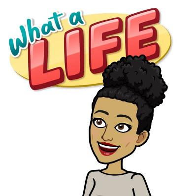 "Bitmoji of ""what a life"""