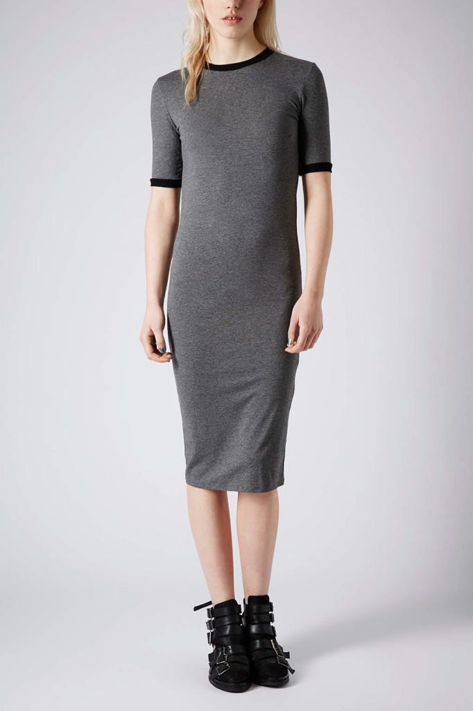 Midi Rib Trim Dress www.topshop.com