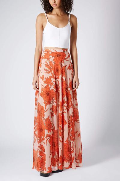 Poppy Bloom Maxi Skirt www.topshop.com