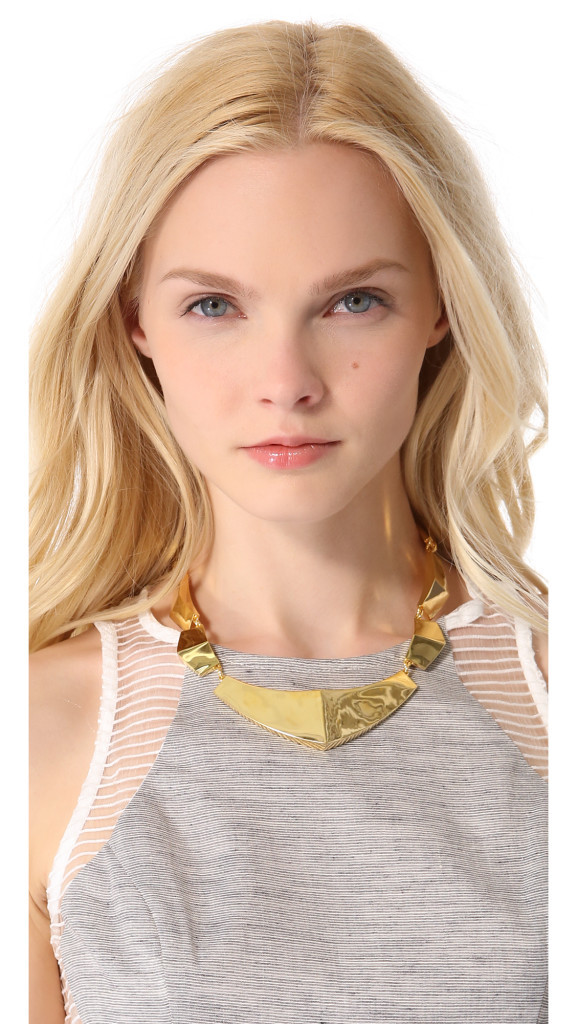 KNIGHT$ OF NEW YORK Bleeker Armor Collar Necklace in Gold