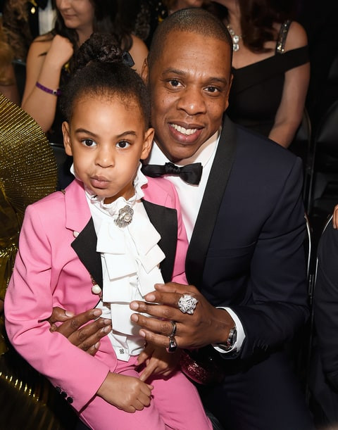 Blue Ivy Carter in Gucci at the 2017 Grammy Awards