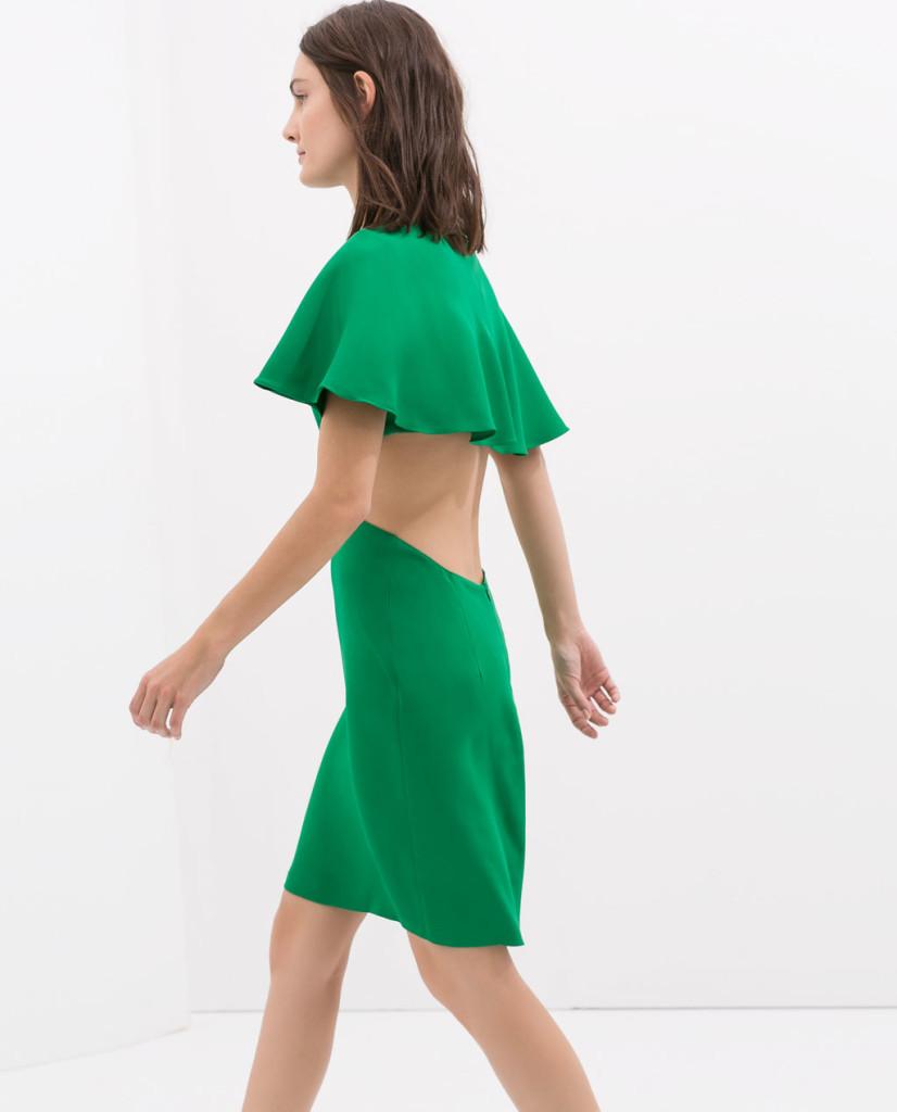 Cape Dress with Low Back www.zara.com