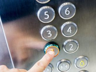 how often do you touch elevator buttons?