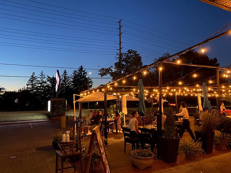 Miga outdoor patio for Korean BBQ