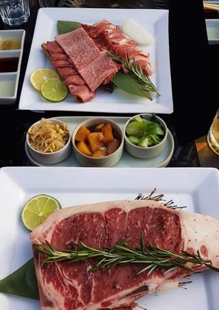 Wagyu Set and T-bone Steak at Miga Korean BBQ