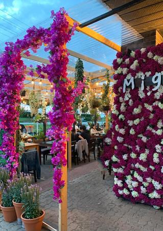 Beautiful patio for Korean BBQ - Miga Restaurant