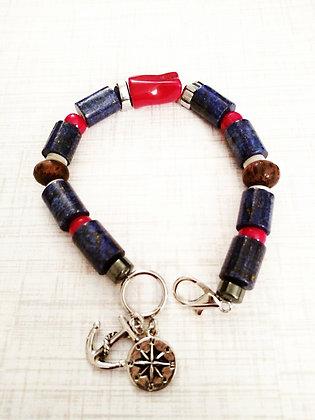 Nautical Themed Gemstone Bracelet