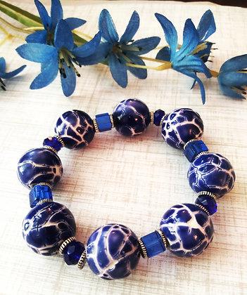 Crackled Blue Bracelet