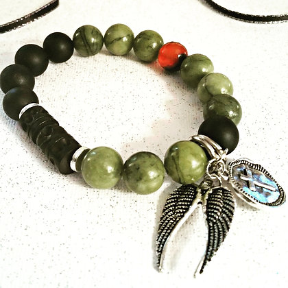 Alexander Wood Gemstone Bracelet