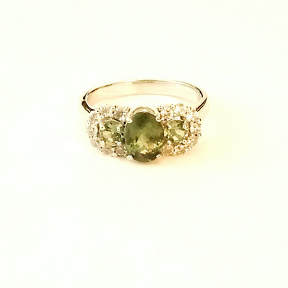 Oval and Round Green Apatite