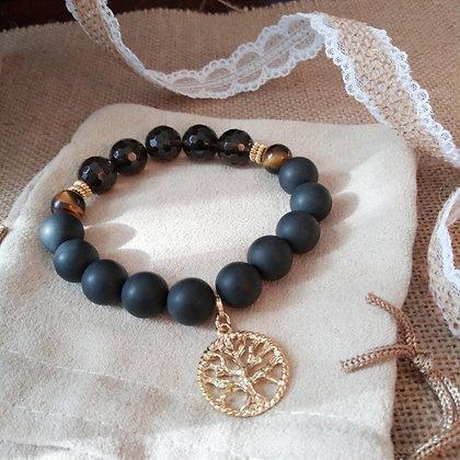Tree of Life Charm Gemstone Bracelet