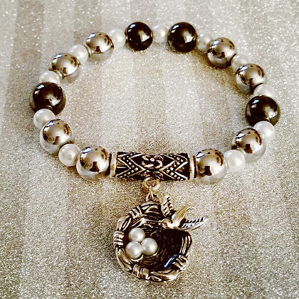 Bird's Nest Charm Bracelet