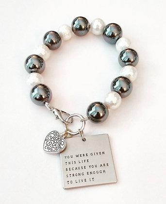 Shells and Inspiring Charm Bracelet