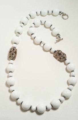 White Jade Gemstone Necklace