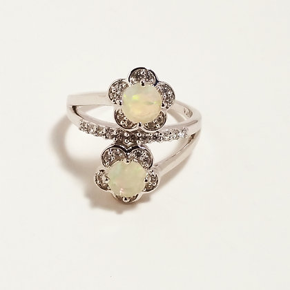 Opal Bypass Ring - Size 9
