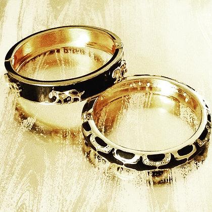 Enamel Gold-tone Bangle Bracelets