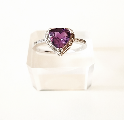 Heart Shape Amethyst - Size 8 and 9