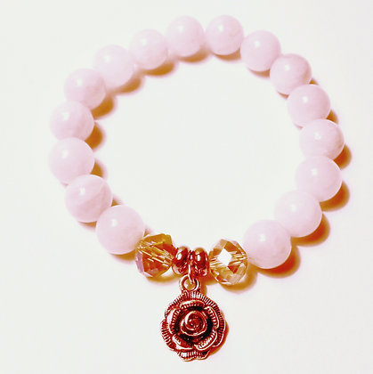 Rose Charm Quartz Bracelet
